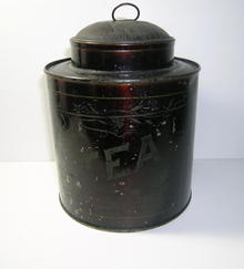 Antique Tea Tin Caddy