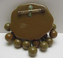 Bakelite Vintage Green Berries or Olives Brooch
