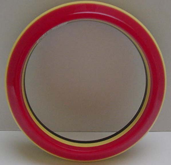 Bakelite laminated Red cream and black