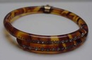 Celluloid tortoiseshell colored  bangle with rhinestones