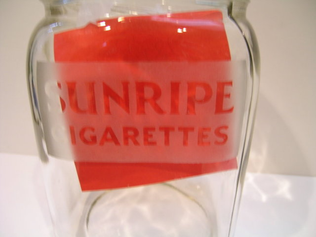Dutch Sunripe Cigarettes Glass Jar with