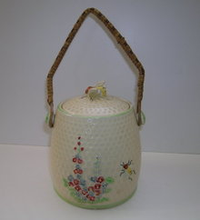 Kensington English China Bee Biscuit Barrel