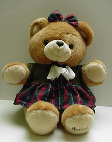 Harrods Tartan Girl Teddy Bear