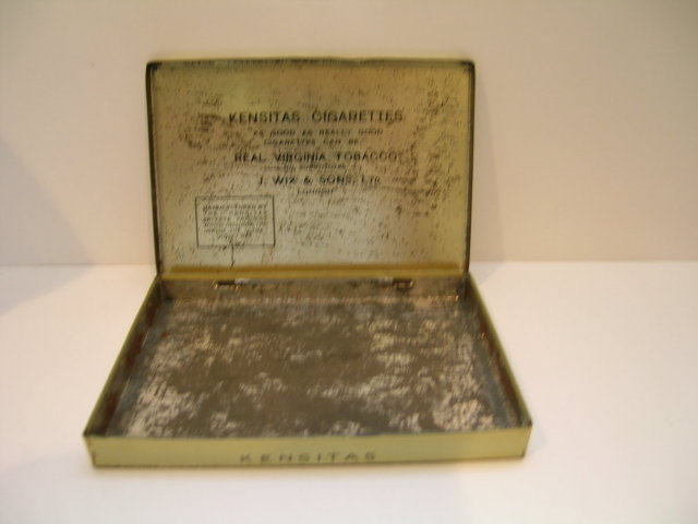 Kensitas Cigarettes Advertising Tin