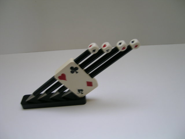 Bakelite  Playing Lead  Pencils With Stand