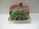 Royal Winton Cottageware Olde Mill Cheese Keep/pink roof