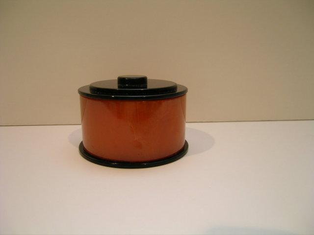 Bakelite Vintage Butterscotch and Black Box