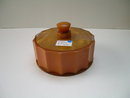 Bakelite Deco Ribbed Molasses Colored Box