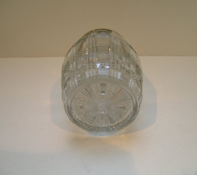 Victorian Silver Plate and Glass Jam Dish with Spoon