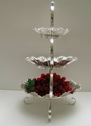 Victorian Silverplate 3 Tier Serving Bowls