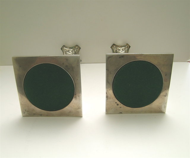 Sterling Silver Pair Corinthinan Pedestal