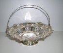 Sterling Silver Large Early Victorian Basket