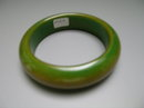 Bakelite Vintage Olive and Golden Brown Bangle