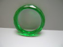 Bakelite Vintage Emerald Green Diamond Cut Bangle