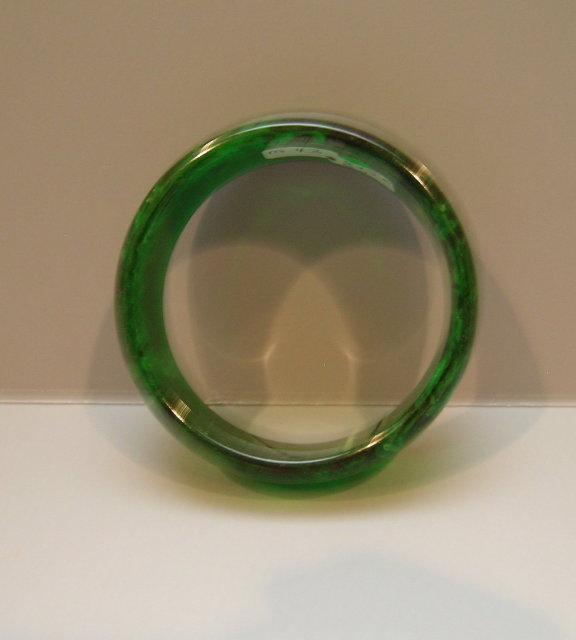 Bakelite Vintage Green Bangle