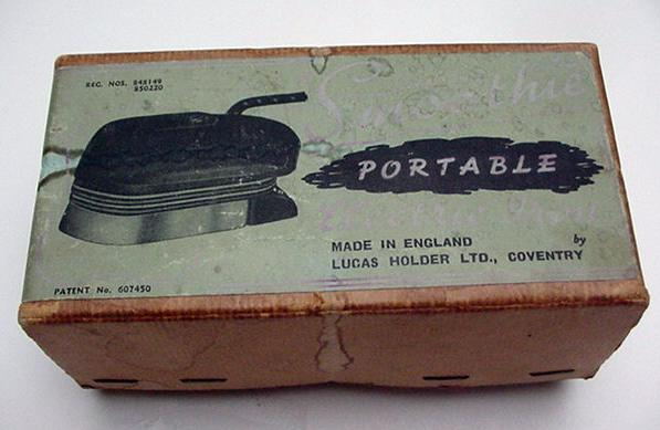 Bakelite English Travel Iron/ Smoothie-Original Box