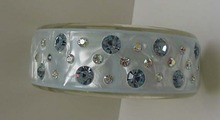 Lucite unusual chrome blue color with