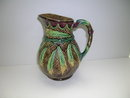 English Majolica Wheat Design Jug