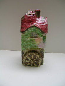 Royal Winton Cottageware Olde Mill Pink Roof