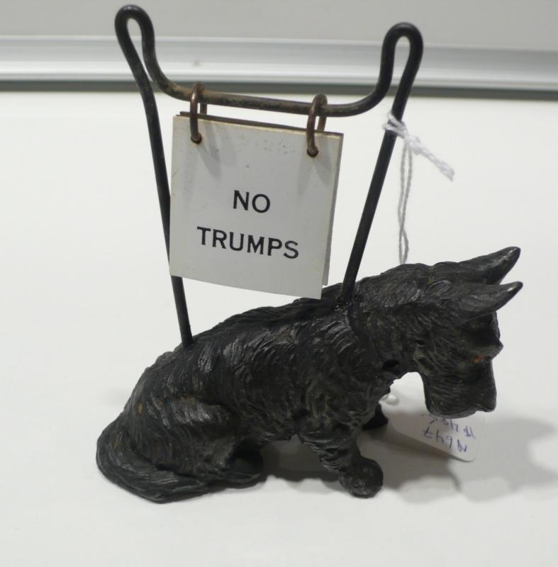 English Black Scotty Trump Marker