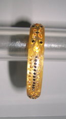 Celluloid Deco Amber, Black  Rhinestone