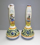 Quimper Pair of Bud Vases