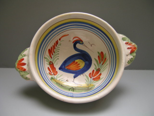 Quimper Bowl with Handles
