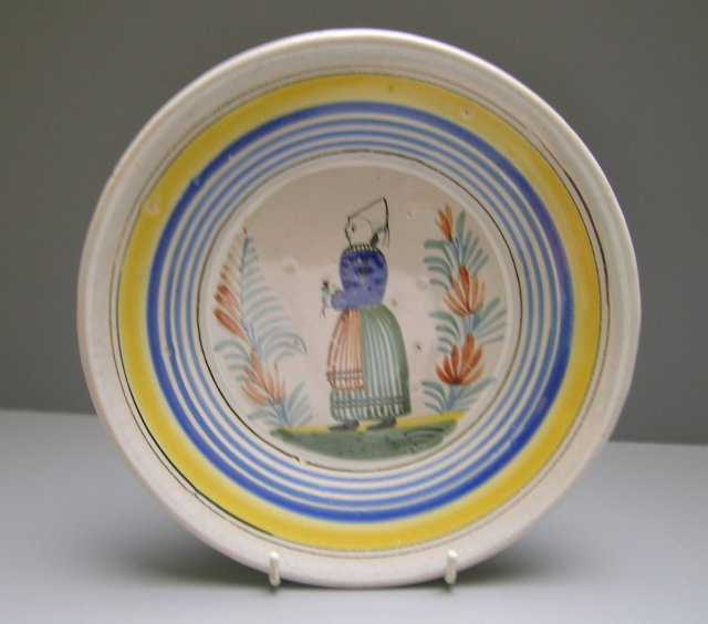 Quimper Plate Young Woman