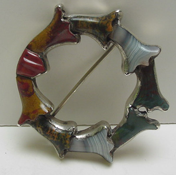 Victorian Scottish Agate Brooch