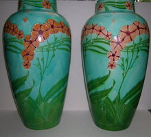 Pair of Minton English China Secessionist Vases