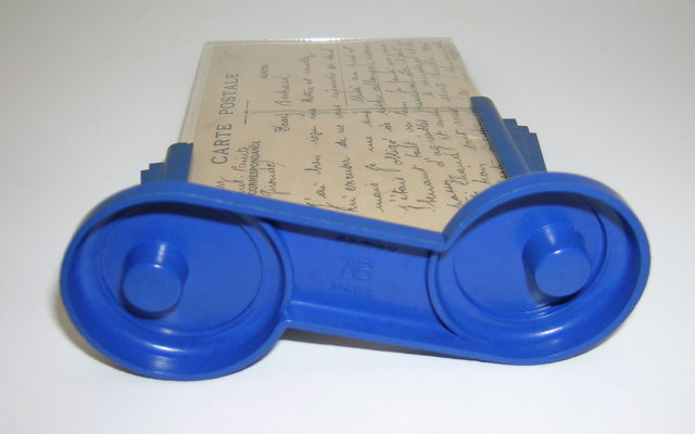 Vintage English Blue Celluloid Frame