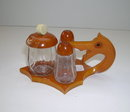 Bakelite Vintage Dragon Cruet:salt pepper