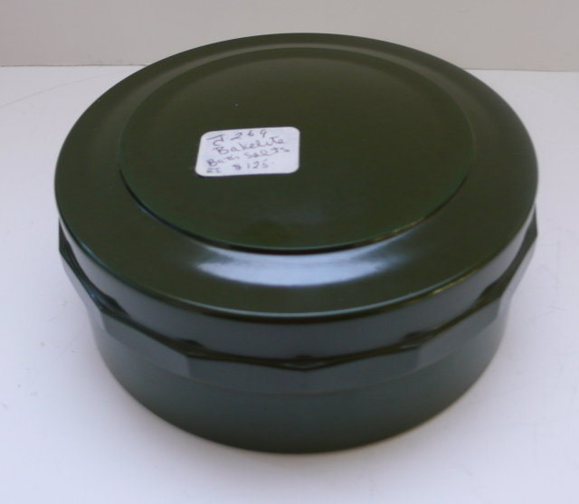 Bakelite Vintage English Green Box with