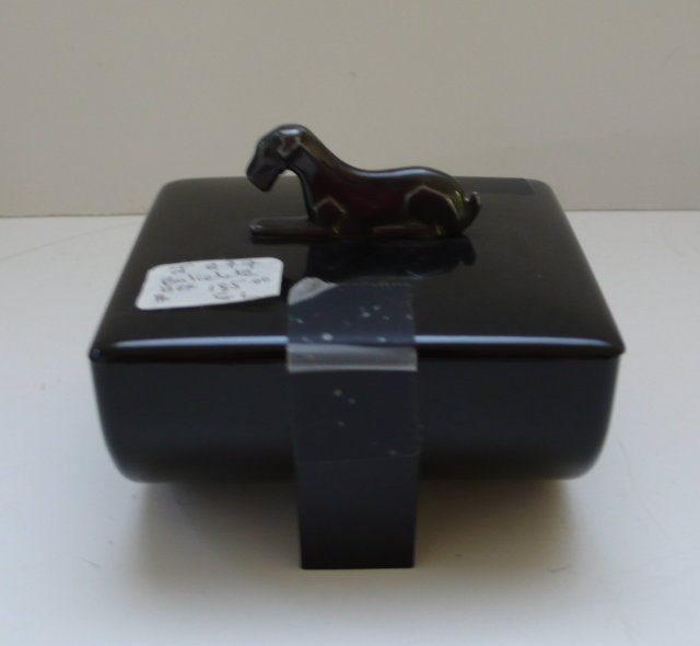 Bakelite Dog Cufflink Box