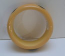 Bakelite Vintage 6 Dot Black/Banana Bangle