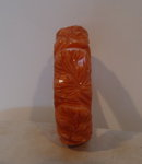 Bakelite Vintage  Carved Apricot Leaf Bangle