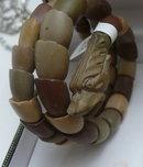 Victorian Lava Serpent Bracelet