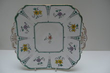 Shelley China Flower Cake Plate