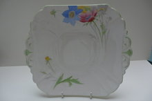Shelley China Anenome Cake Plate