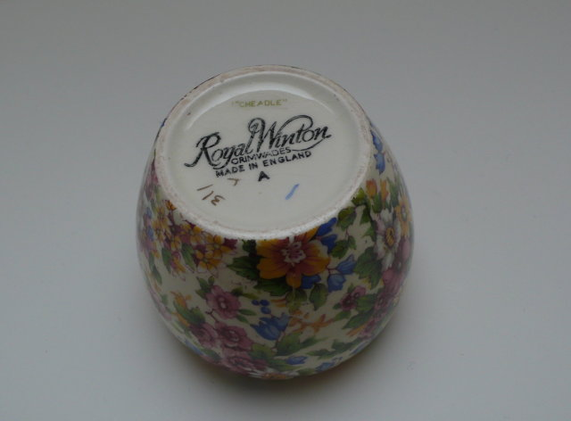 Royal Winton Cheadle Chintz Jam Pot