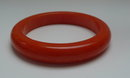 Bakelite Vintage Chunky Orange Bangle