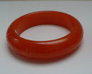 Bakelite Chunky Bright Orange Marbled Bangle