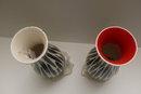 Beswick Pair of Zebra Stripe Vases