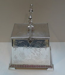 Victorian Silverplate Aesthetic Design Biscuit