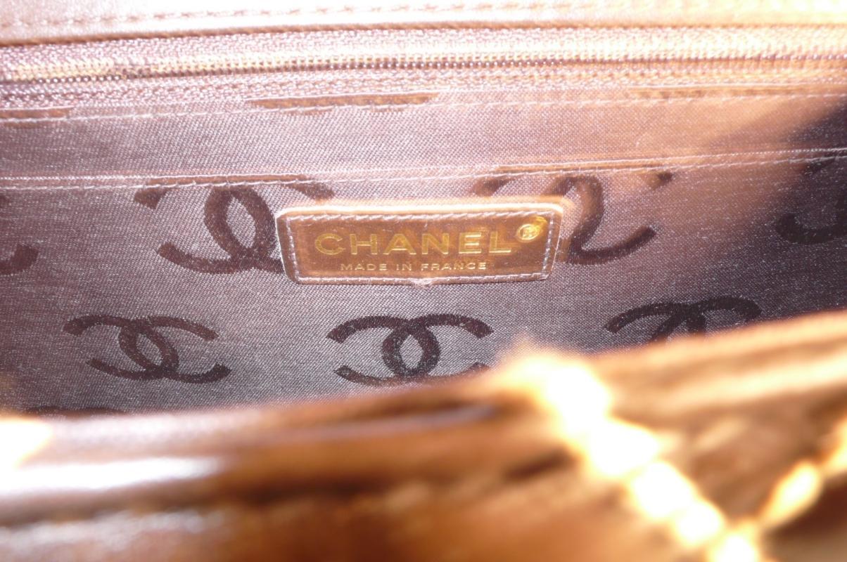 Chanel Brown Envelope Handbag