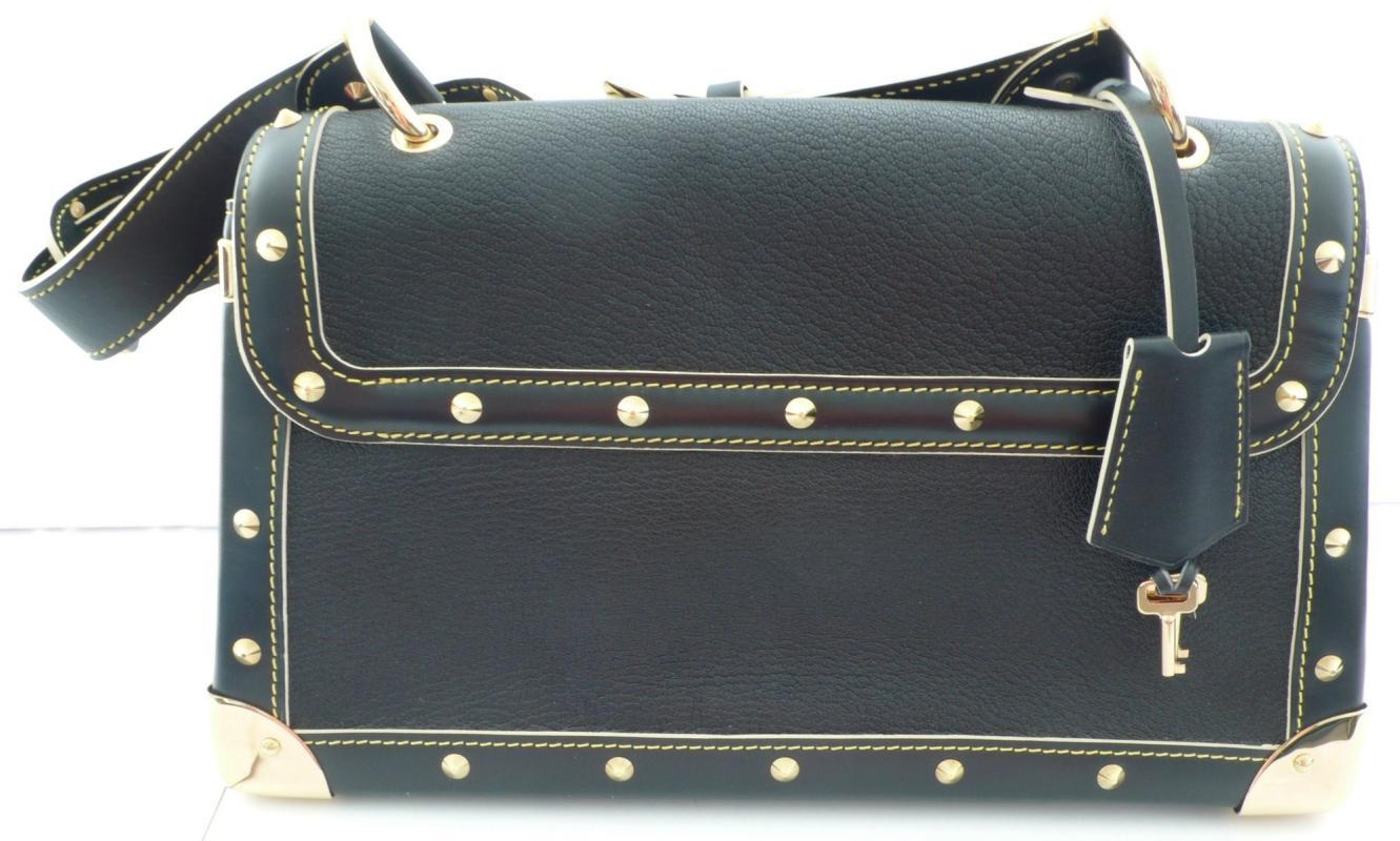 Luis Vuitton Black Studded Handbag
