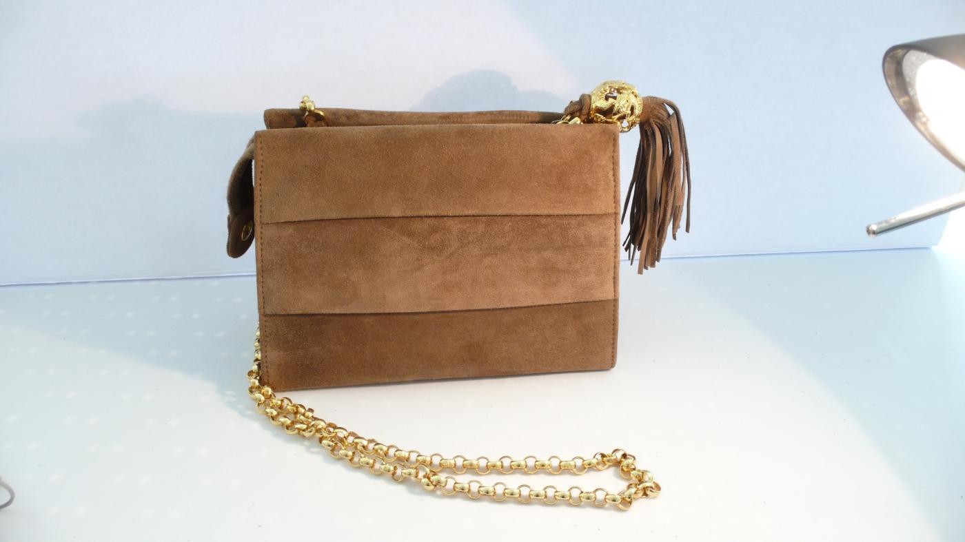 Ferragamo Vintage Elegant Suede Shoulder Bag