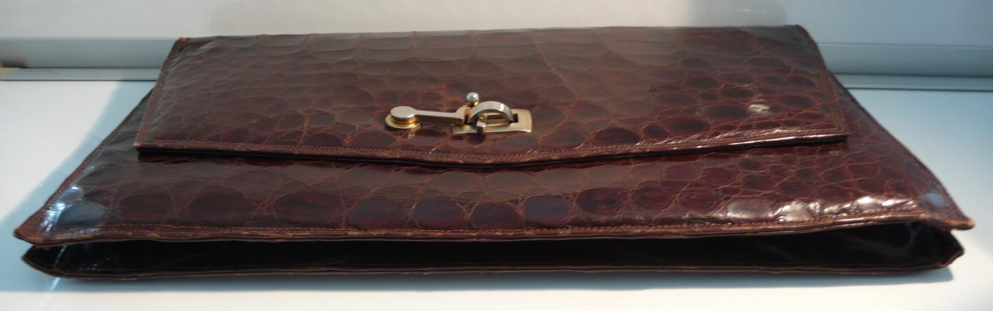 Vintage Alligator Clutch Bag