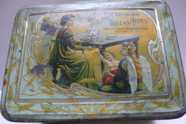 Advertising Tin Art Nouveau Bellas Artes Bizcohos