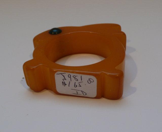 Bakelite Bunny Vintage Napkin Ring